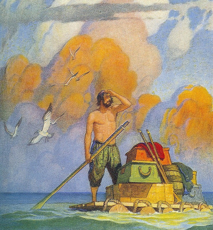 the religious epiphany in robinson crusoes character Allegorical significance of robinson crusoe apart from being an exciting account of a solitary's man's adventures on an uninhibited island, this book has been found to possess a profound allegorical significance.